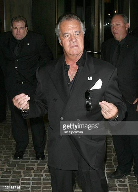 Actor Tony Sirico attends The Cinema Society Everlon Diamond Knot Collection screening of 'Welcome To The Rileys' on October 18 2010 at the Tribeca...