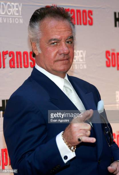 Actor Tony Sirico attends the HBO premiere of The Sopranos at Radio City Music Hall on March 27 2007 in New York City