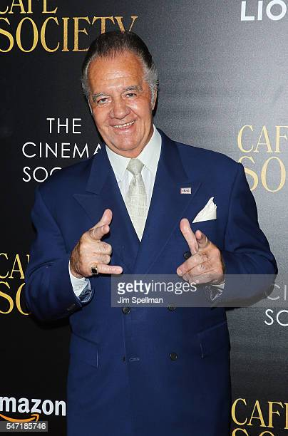Actor Tony Sirico attends the New York premiere of 'Cafe Society' hosted by Amazon Lionsgate with The Cinema Society at Paris Theatre on July 13 2016...