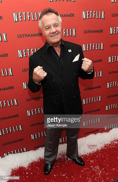 Actor Tony Sirico attends the North American Premiere Of 'Lilyhammer' a Netflix Original Series at Crosby Street Hotel on February 1 2012 in New York...
