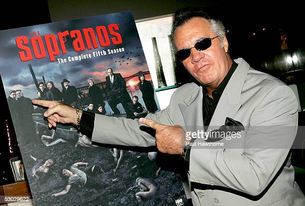 Actor Tony Sirico attends 'The Sopranos The Complete Fifth Season' DVD launch party at English is Italian on June 6 2005 in New York City