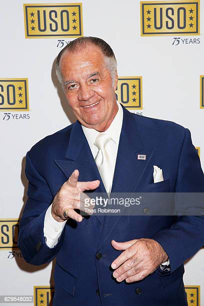 Actor Tony Sirico attends the USO 75th Anniversary Armed Forces Gala Gold Medal Dinner at Marriott Marquis Times Square on December 13 2016 in New...