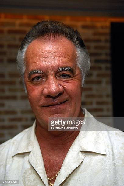 Actor Tony Sirico of The Sopranos poses at Devitos Restaurant on October 26 2007 in Miami Beach Florida