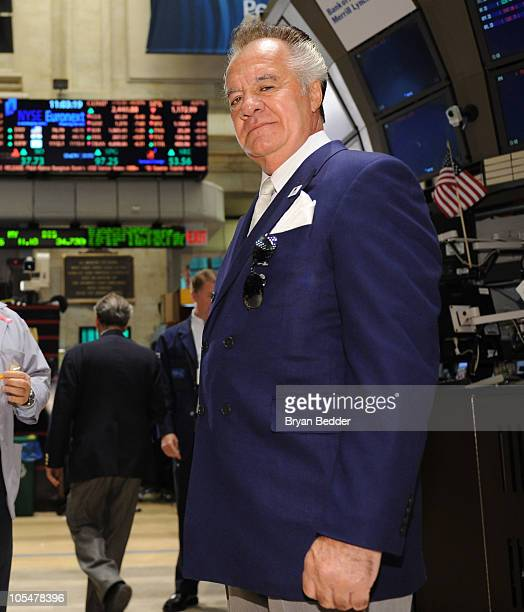 Actor Tony Sirico visits The New York Stock Exchange on October 15 2010 in New York City