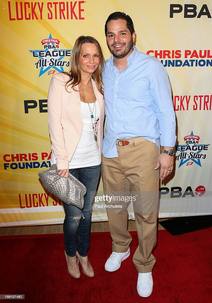 Actor Tony Testa (R) attends the 5th annual Chris Paul PBA All-Stars charity tournament at Lucky Strike Lanes at L.A. Live on January 7, 2013 in Los Angeles, California.