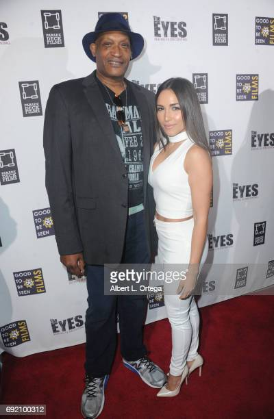 Actor Tony Todd and actress Ana Isabelle arrive for the Premiere Of Parade Deck Films' 'The Eyes' held at Arena Cinelounge on April 7 2017 in...