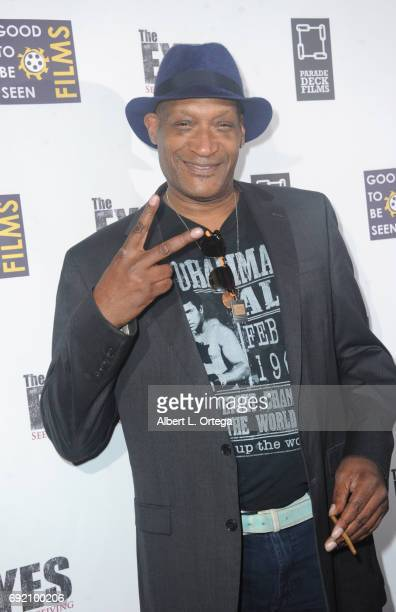 Actor Tony Todd arrives for the Premiere Of Parade Deck Films' 'The Eyes' held at Arena Cinelounge on April 7 2017 in Hollywood California