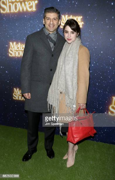 Actor Tony Yazbeck and guest attend the 'Meteor Shower' Broadway opening night at the Booth Theatre on November 29 2017 in New York City