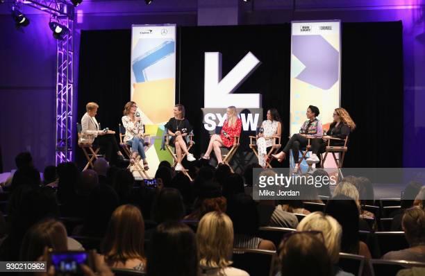 Actor Tonya Lewis Lee Sarah Aubrey TNT EVP of Original Programming Amy Powell President of Paramount Television actors Dakota Fanning Karrueche Tran...