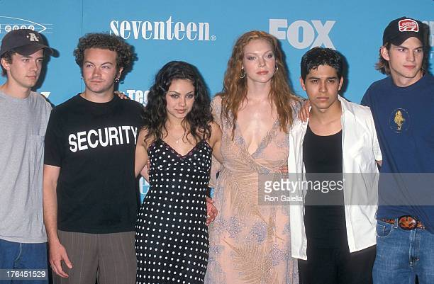 Actor Topher Grace actor Danny Masterson actress Mila Kunis actress Laura Prepon actor Wilmer Valderrama and actor Ashton Kutcher attend the Second...