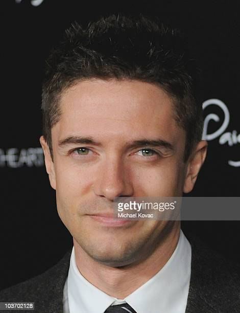 Actor Topher Grace arrives at The Art of Elysium's 2nd Annual Genesis Awards at Milk Studios on August 28, 2010 in Hollywood, California.