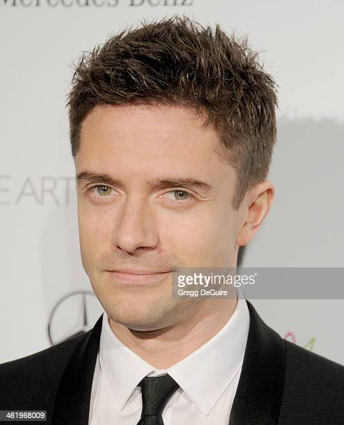 Actor Topher Grace arrives at The Art of Elysium's 7th Annual HEAVEN Gala at the Guerin Pavilion at the Skirball Cultural Center on January 11 2014...