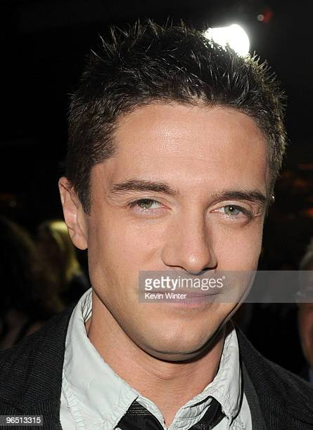Actor Topher Grace arrives at the premiere of New Line Cinema's 'Valentine's Day' held at Grauman�s Chinese Theatre on February 8 2010 in Los Angeles...