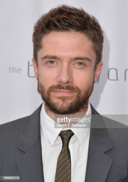 Actor Topher Grace arrives to The Geffen Playhouse's Annual 'Backstage at the Geffen' Gala at Geffen Playhouse on May 13 2013 in Los Angeles...