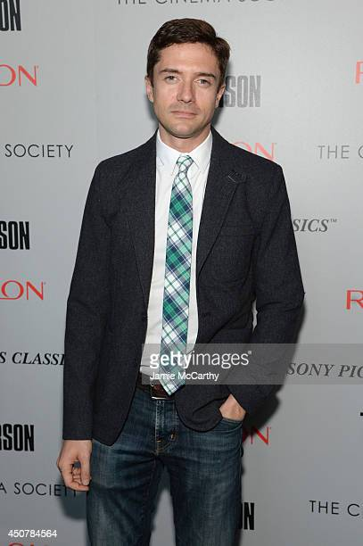 Actor Topher Grace attends The Cinema Society Revlon screening of Sony Pictures Classics' 'Third Person' on June 17 2014 in New York City