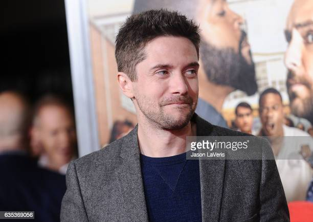 Actor Topher Grace attends the premiere of 'Fist Fight' at Regency Village Theatre on February 13 2017 in Westwood California