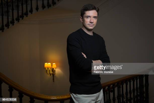 Actor Topher Grace is photographed for The Hollywood Reporter on May 2018 in Cannes France