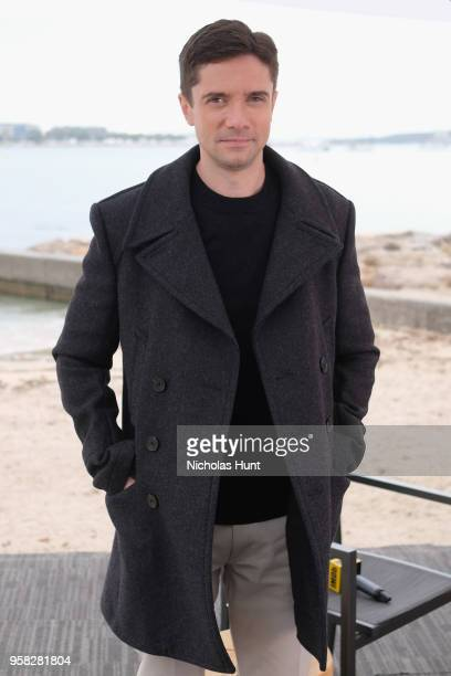 Actor Topher Grace poses at IMDb On The Scene during The 71st Annual Cannes Film Festival at American Pavilion on May 14 2018 in Cannes France