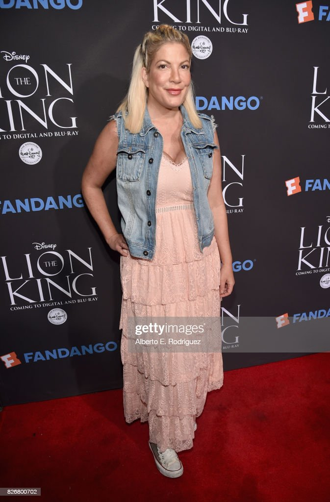 Actor Tori Spelling at The Lion King Sing-Along at The Greek Theatre in Los Angeles in celebration of the in-home release hosted by Walt Disney Studios and Fandango on August 5, 2017 in Los Angeles, California.