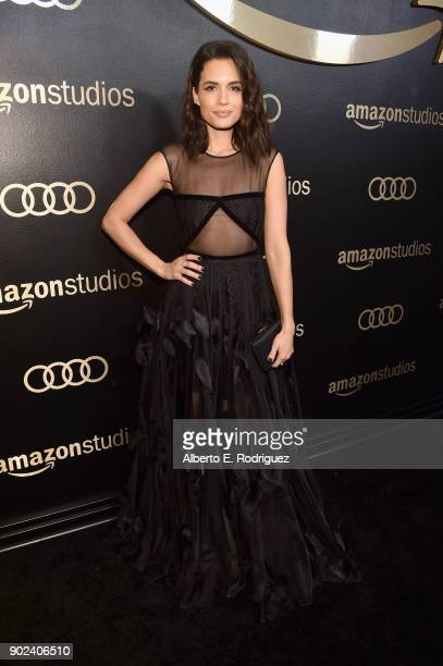 Actor Torrey DeVitto attends Amazon Studios' Golden Globes Celebration at The Beverly Hilton Hotel on January 7 2018 in Beverly Hills California