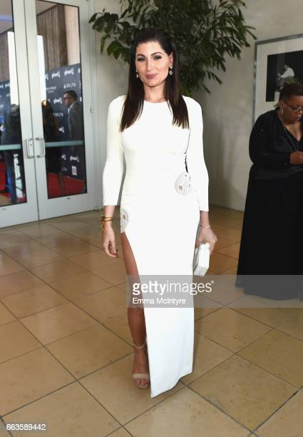 Actor Trace Lysette attends the 28th Annual GLAAD Media Awards in LA at The Beverly Hilton Hotel on April 1 2017 in Beverly Hills California