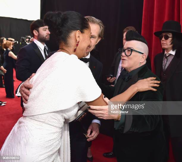Actor Tracee Ellis Ross and Lea DeLaria attend the 24th Annual Screen Actors Guild Awards at The Shrine Auditorium on January 21 2018 in Los Angeles...
