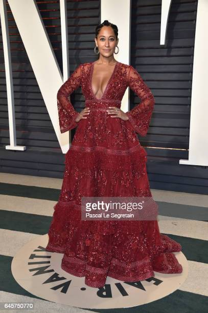 Actor Tracee Ellis Ross attends the 2017 Vanity Fair Oscar Party hosted by Graydon Carter at Wallis Annenberg Center for the Performing Arts on...