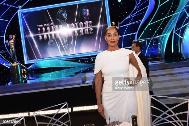 Actor Tracee Ellis Ross attends the 24th Annual Screen Actors Guild Awards at The Shrine Auditorium on January 21 2018 in Los Angeles California...