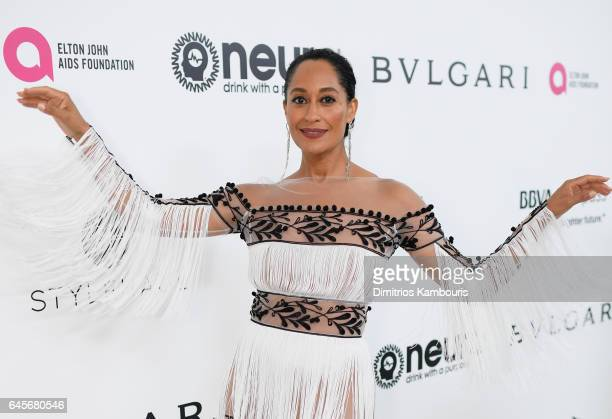 Actor Tracee Ellis Ross attends the 25th Annual Elton John AIDS Foundation's Academy Awards Viewing Party at The City of West Hollywood Park on...