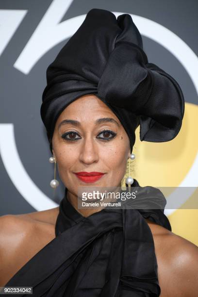 Actor Tracee Ellis Ross attends The 75th Annual Golden Globe Awards at The Beverly Hilton Hotel on January 7 2018 in Beverly Hills California