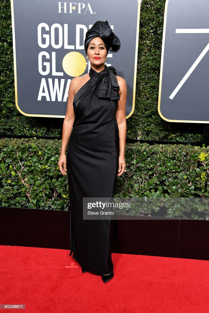 Actor Tracee Ellis Ross attends The 75th Annual Golden Globe Awards at The Beverly Hilton Hotel on January 7, 2018 in Beverly Hills, California.