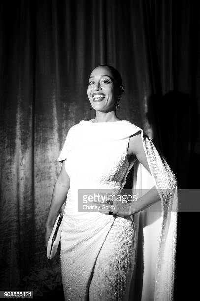 Actor Tracee Ellis Ross poses backstage during the 24th Annual Screen Actors Guild Awards at The Shrine Auditorium on January 21 2018 in Los Angeles...