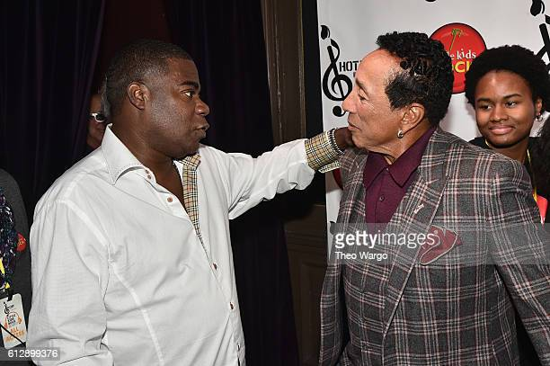 Actor Tracy Morgan and Singersongwriter Smokey Robinson attend Little Kids Rock Benefit 2016 at Capitale on October 5 2016 in New York City