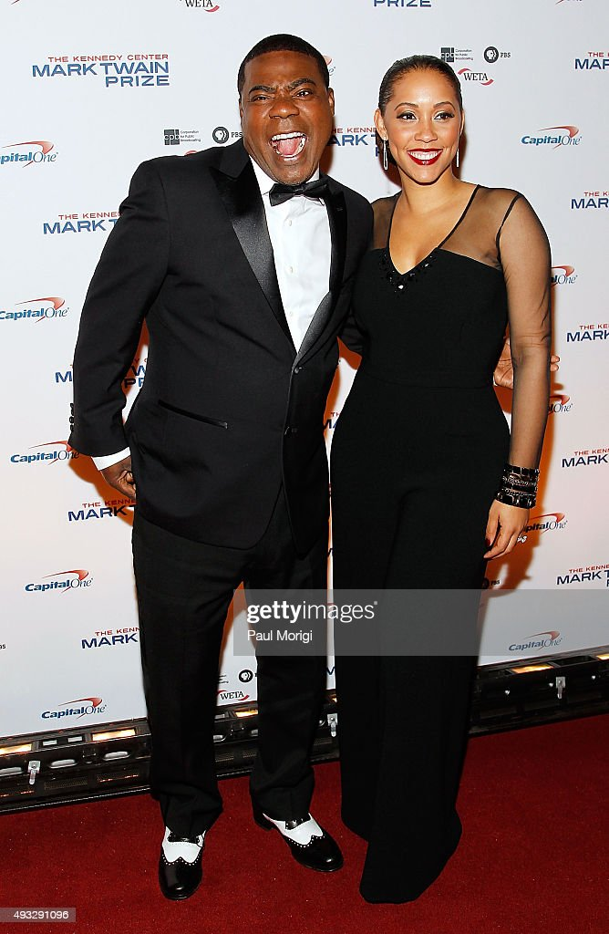 Actor Tracy Morgan and wife Megan Morgan attend the 18th Annual Mark Twain Prize for Humor at The John F. Kennedy Center for Performing Arts on October 18, 2015 in Washington, DC.