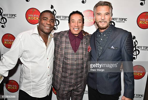 Actor Tracy Morgan Singersongwriter Smokey Robinson and singer Kenny Loggins attend Little Kids Rock Benefit 2016 at Capitale on October 5 2016 in...