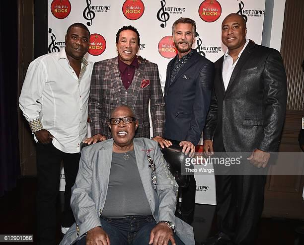 Actor Tracy Morgan singersongwriter Smokey Robinson singer Kenny Loggins baseball player Bernie Williams and singer Sam Moore attend Little Kids Rock...