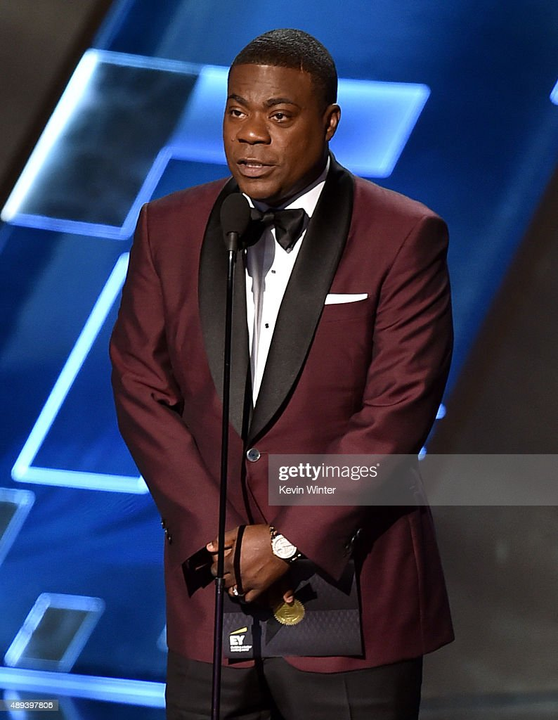 Actor Tracy Morgan speaks onstage during the 67th Annual Primetime Emmy Awards at Microsoft Theater on September 20, 2015 in Los Angeles, California.