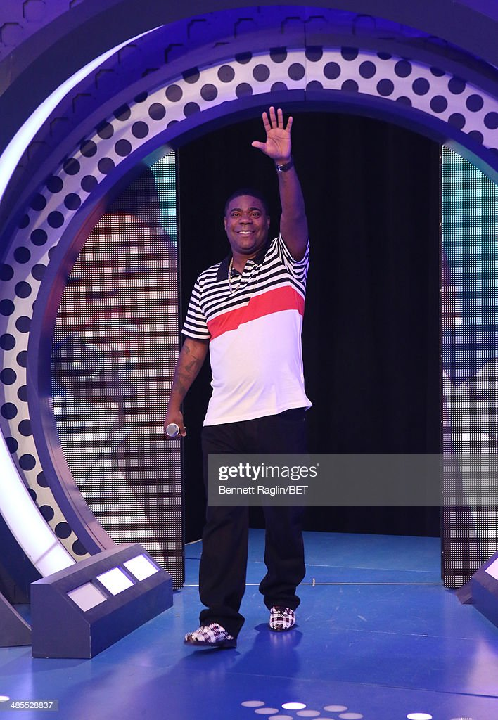Actor Tracy Morgan visits 106 & Park at BET studio on April 16, 2014 in New York City.