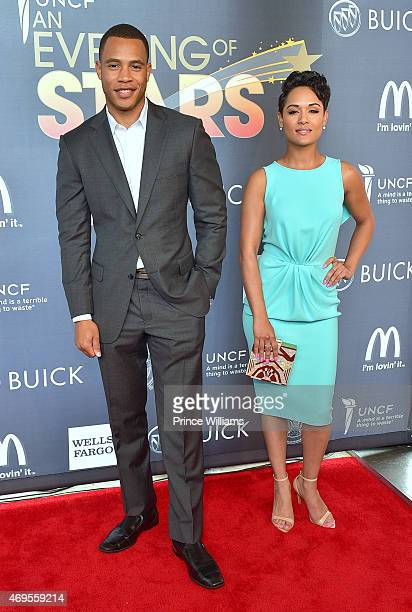 Actor Trai Byers and Actress Grace Gealey attend An Evening of Stars at Atlanta Civic Center on April 12, 2015 in Atlanta, Georgia.
