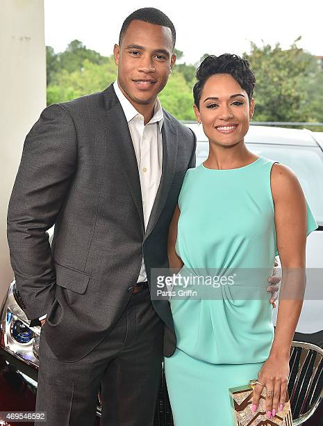 Actor Trai Byers and actress Grace Gealey attend the UNCF 'An Evening Of Stars' at Boisfeuillet Jones Atlanta Civic Center on April 12 2015 in...