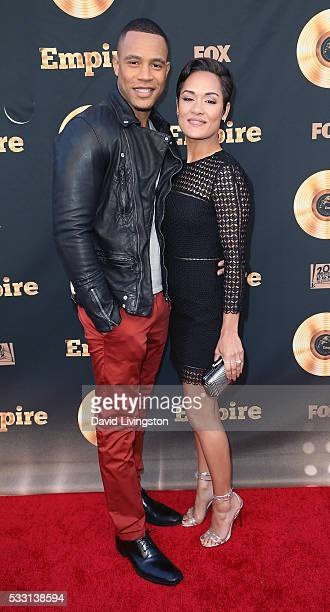 Actor Trai Byers and wife actress Grace Gealey attend the Empire FYC ATAS event at the Zanuck Theater at 20th Century Fox Lot on May 20 2016 in Los...
