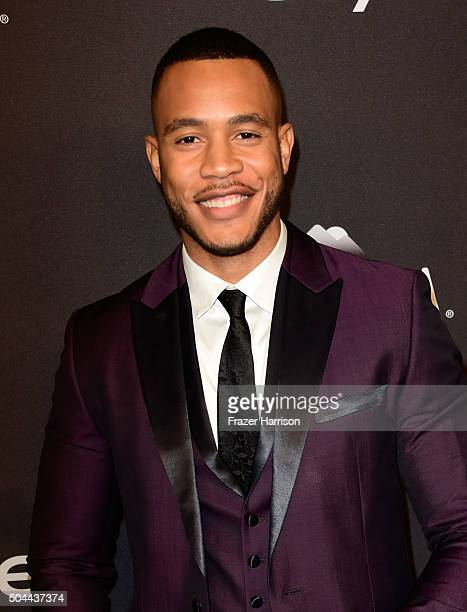Actor Trai Byers attends InStyle and Warner Bros 73rd Annual Golden Globe Awards PostParty at The Beverly Hilton Hotel on January 10 2016 in Beverly...