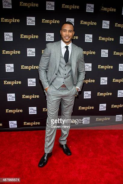 Actor Trai Byers attends Saks Fifth Avenue Empire Fashion Week event on September 12 2015 in New York City