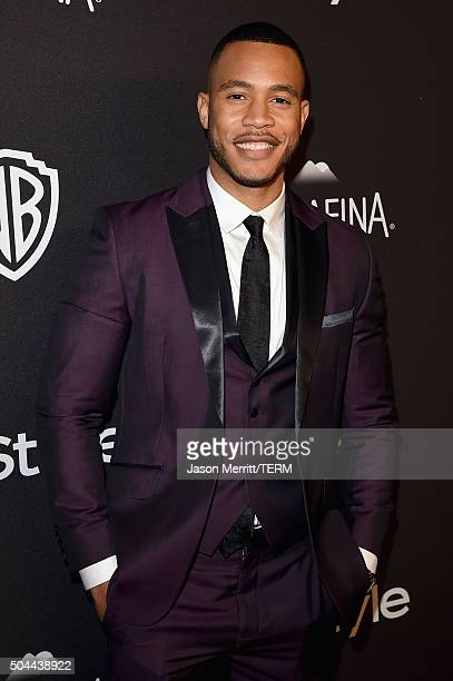 Actor Trai Byers attends The 2016 InStyle And Warner Bros 73rd Annual Golden Globe Awards PostParty at The Beverly Hilton Hotel on January 10 2016 in...