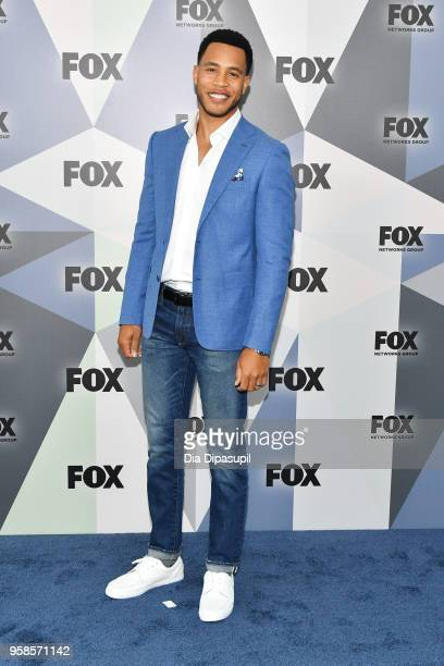 Actor Trai Byers attends the 2018 Fox Network Upfront at Wollman Rink Central Park on May 14 2018 in New York City