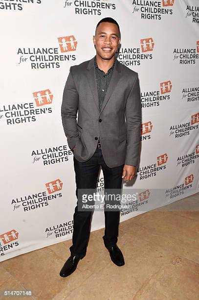Actor Trai Byers attends the Alliance for Children's Rights' 24th annual dinner at The Beverly Hilton Hotel on March 10 2016 in Beverly Hills...