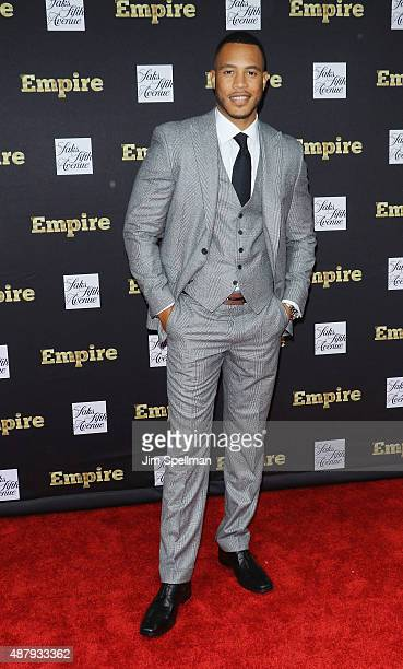 Actor Trai Byers attends the Empire curated collection unveiling at Saks Fifth Avenue on September 12 2015 in New York City