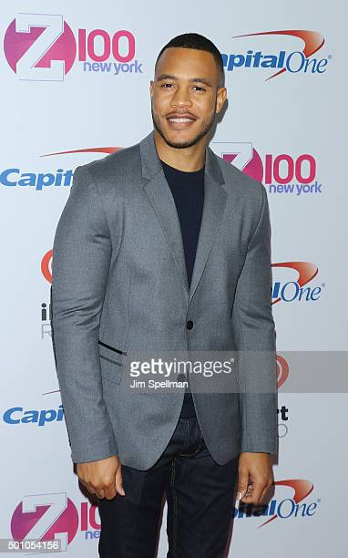 Actor Trai Byers attends the Z100's iHeartRadio Jingle Ball 2015 at Madison Square Garden on December 11 2015 in New York City