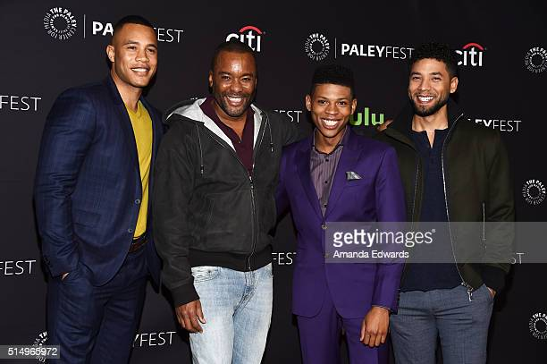 Actor Trai Byers executive producer Lee Daniels and actors Bryshere 'Yazz' Gray and Jussie Smollett arrive at The Paley Center For Media's 33rd...