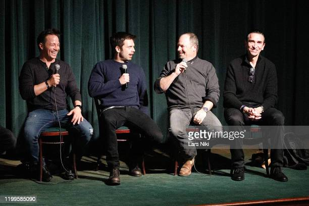 Actor Travis Aaron Wade, actor Sebastian Stan, writer and director Todd Robinson and producer Sidney Sherman on stage during a special screening of...